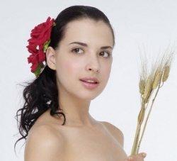 woman using homeopathy remedy