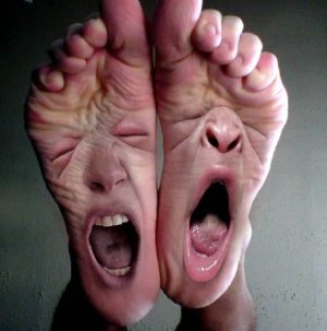 severe foot pain